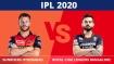 ಐಪಿಎಲ್ 2020: ಆರ್ಸಿಬಿ vs ಎಸ್ಆರ್ಹೆಚ್, ಟಾಸ್ ವರದಿ, ಅಂತಿಮ ತಂಡಗಳು