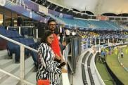 ಐಪಿಎಲ್: ಚೆನ್ನೈ ಮತ್ತು ಮುಂಬೈ ನಡುವಿನ ಪಂದ್ಯ ವೀಕ್ಷಿಸಿದ ನಟ ಕಿಚ್ಚ ಸುದೀಪ್ ದಂಪತಿ
