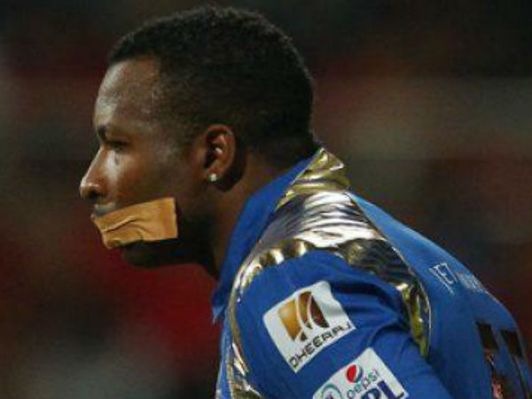 MI's Kieron Pollard clarifies on his taped mouth act at IPL 2015