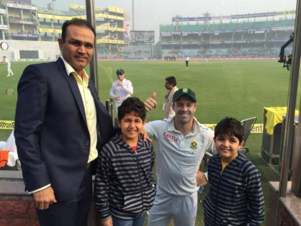 Virender Sehwag to his sons