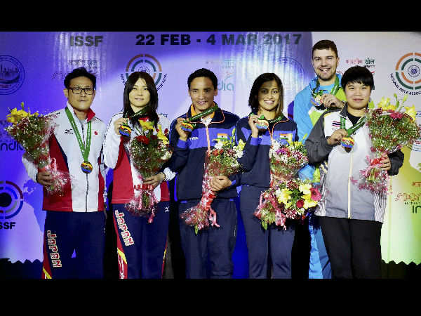 Shooter Jitu Rai Clinches Bronze In 10m Air Pistol Event At Issf World Cup