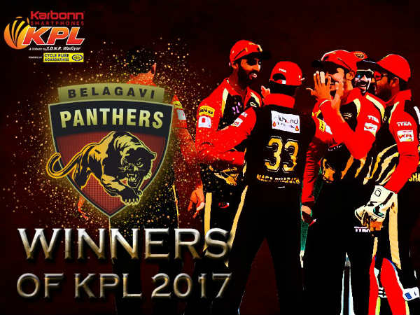 Belagavi Panthers crowned KPL 2017 champions