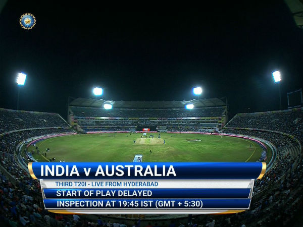 India vs Australia 3rd T20: Toss Delayed Due To Wet Outfield
