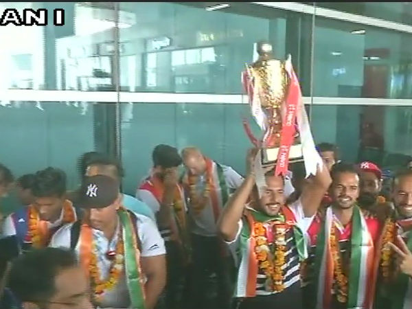 Indian Hockey team arrives in Delhi after winning the Asia Cup Hockey