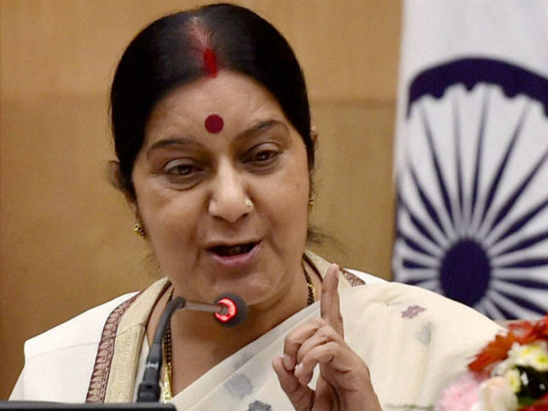 Sushma Swaraj Rules Out India Pak Series At Neutral Venue Cites Ceasefire Violations