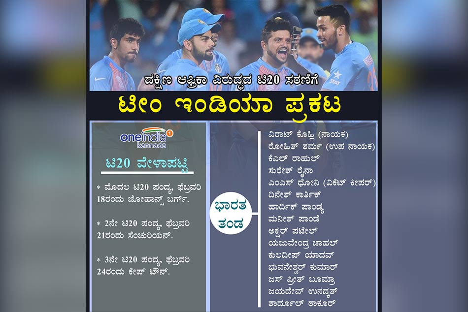 BCCI announces India squad for T20i series against South africa, Raina Returns
