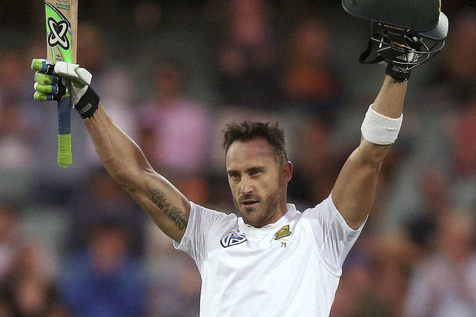 Du Plessis out for remaining ODIs and T20s against India
