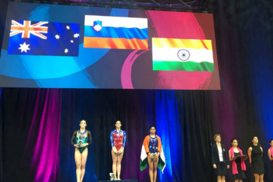 History Created: Gymnast Aruna Budda Reddy becomes 1st Indian to win World Cup medal