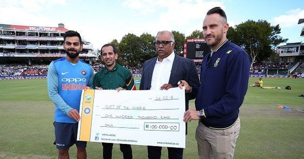 Indian Cricket Team Donates Money For Capetowns Water Crisis