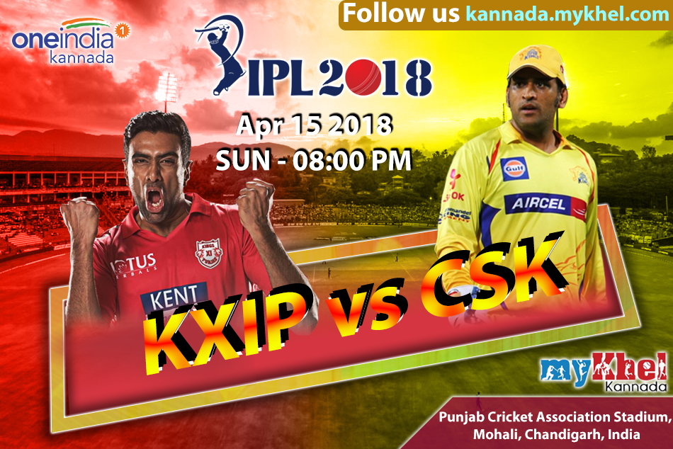 Ipl 2018 Chennai Super Kings Vs Kings Xi Punjab Match 12 Report Mohali