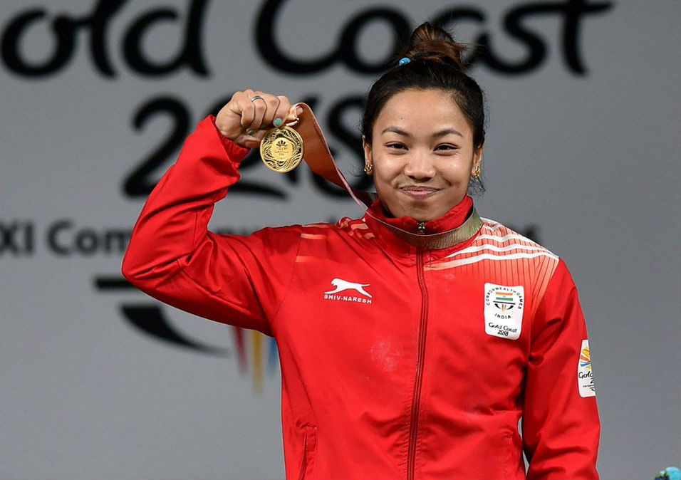 Meera Bhai Chanu wins gold in weight lifting