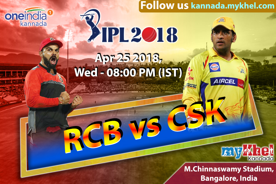 Ipl 2018 Match 24 Royal Challengers Bangalore Chennai Super Kings