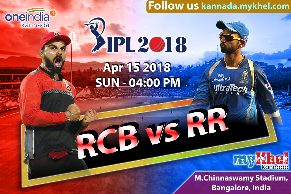 IPL 2018 Match 11 report : Bangalore RCB vs Rajasthan RR