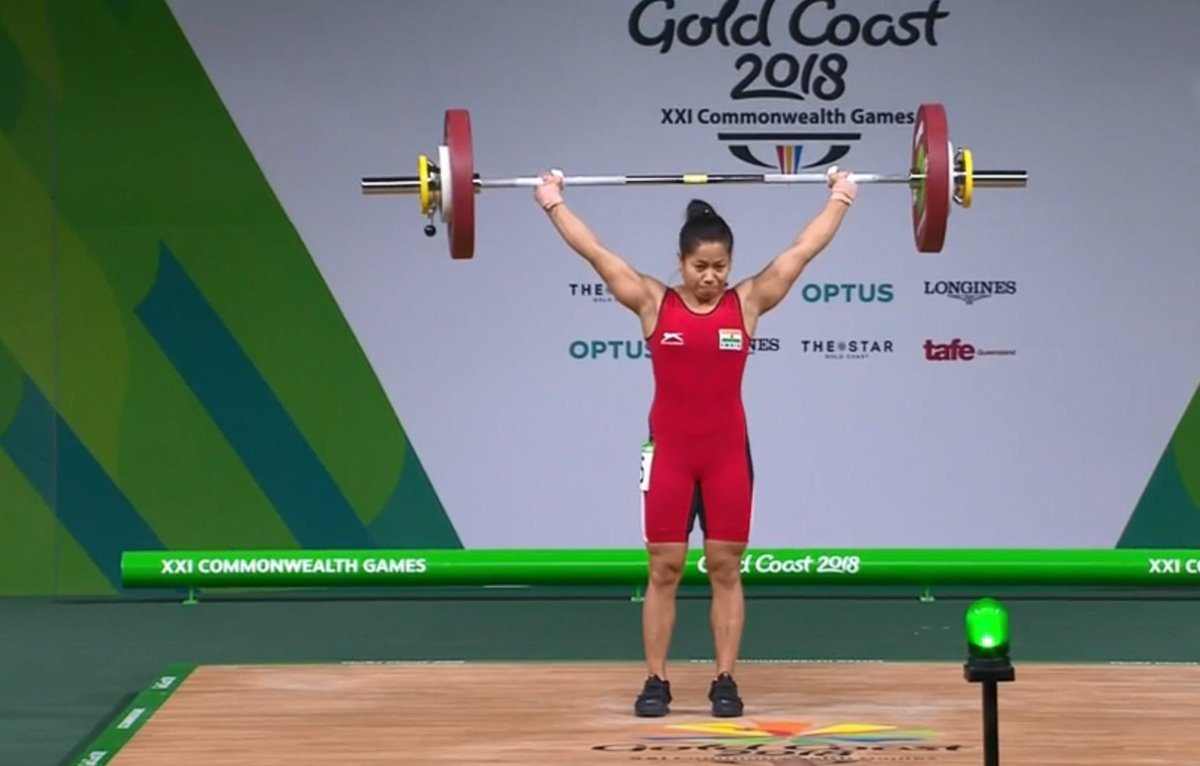 Common wealth games 2018: Indias Sanjita Chanu wins gold medal in 53 kg womens weightlifting