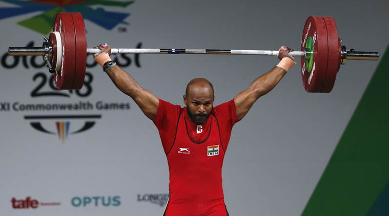 India won an another gold in weight lifting in commonwealth games 2018