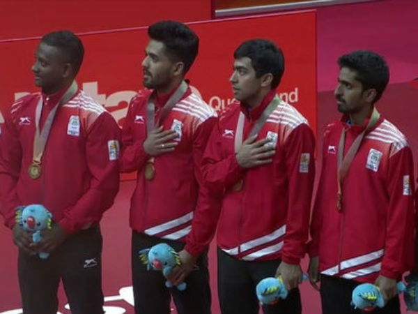 Indian men table tennis team grabs gold