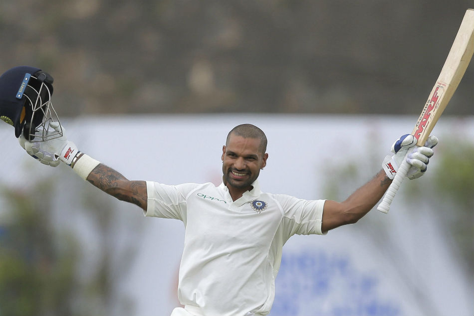 Shikhar Dhawan First Indian Score Century Before Lunch Vs Afghanistan