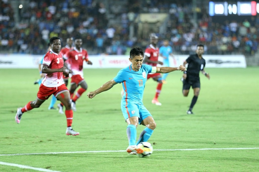 Intercontinental Cup Final: Sunil Chhetri's brace gives India title