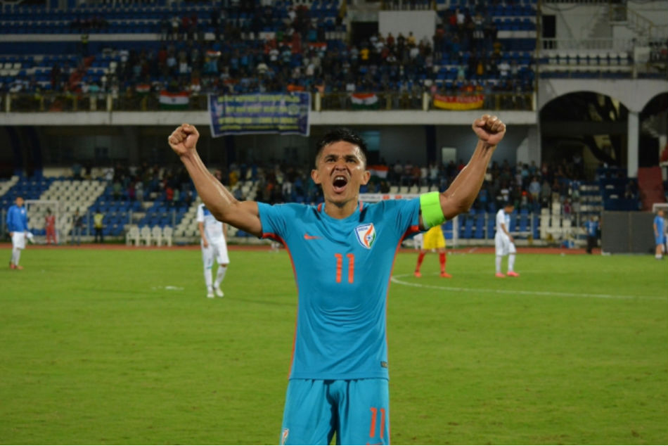 Sunil Chhetri scores brace in 100th International Cap to lead India to a 3-0 win over Kenya.