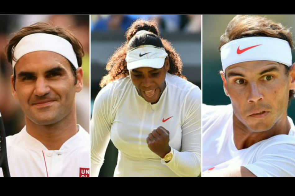Roger Federer, Serena Williams & Rafael Nadal play on Manic Monday
