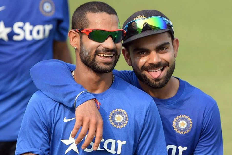 India Vs England Virat Kohli Shikhar Dhawan Do Bhangra On The Field