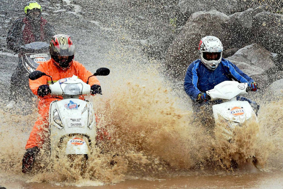 Monsoon Scooter Rally on August 25