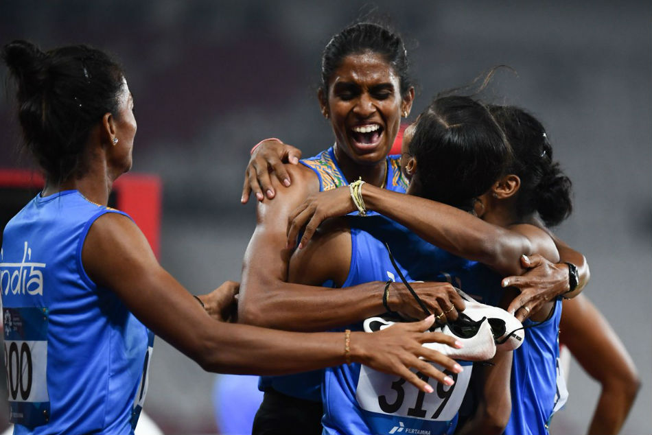 Asian Games 2018: India won gold at the womens 4x400m relay