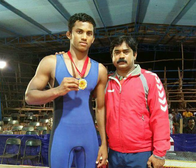 Young wrestler Vikas Gowda died in Dawangere today