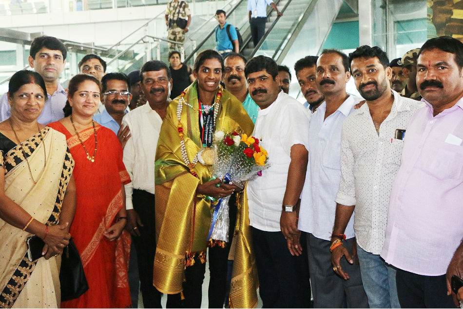 Golden Girl Mr Poovamma Gets Warm Welcome Mangaluru