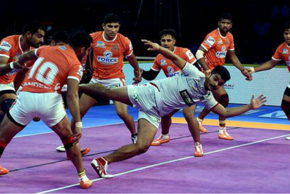 Pro Kabaddi 2018 Haryana Steelers Beat Gujarat Fortunegiants 32
