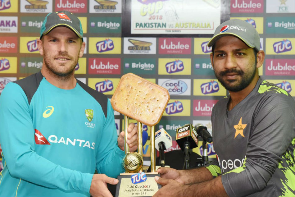 Pakistan Australia T20 Biscuit cup trophy twitter trolled
