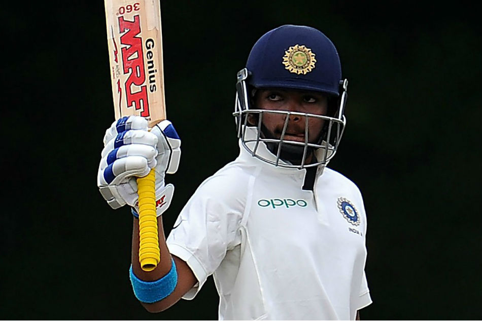 The Debutant Prithvi Shaw Brings Up His Maiden Test Half Century