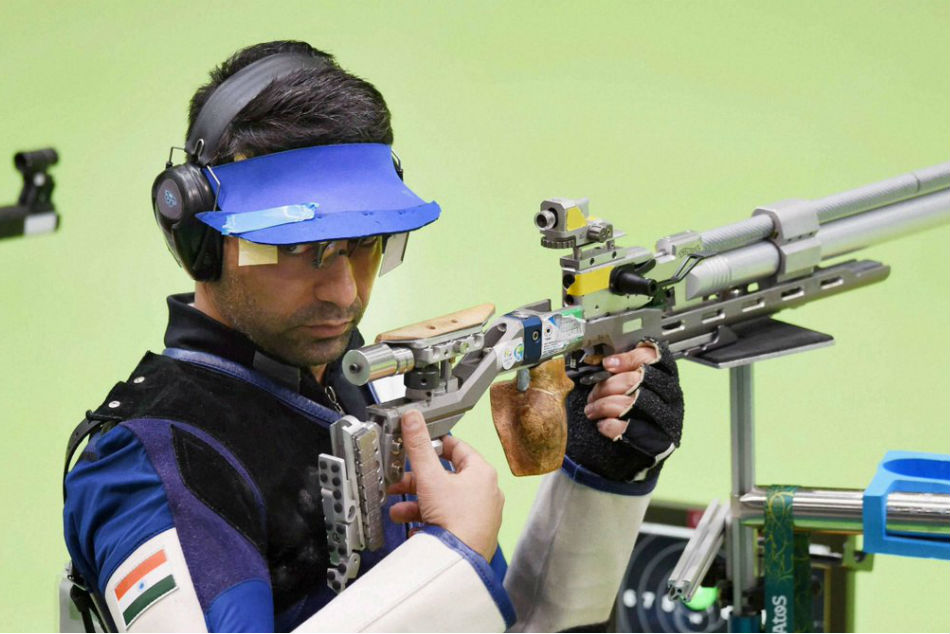 Abhinav bindra received Shootings highest honour The Blue Cross