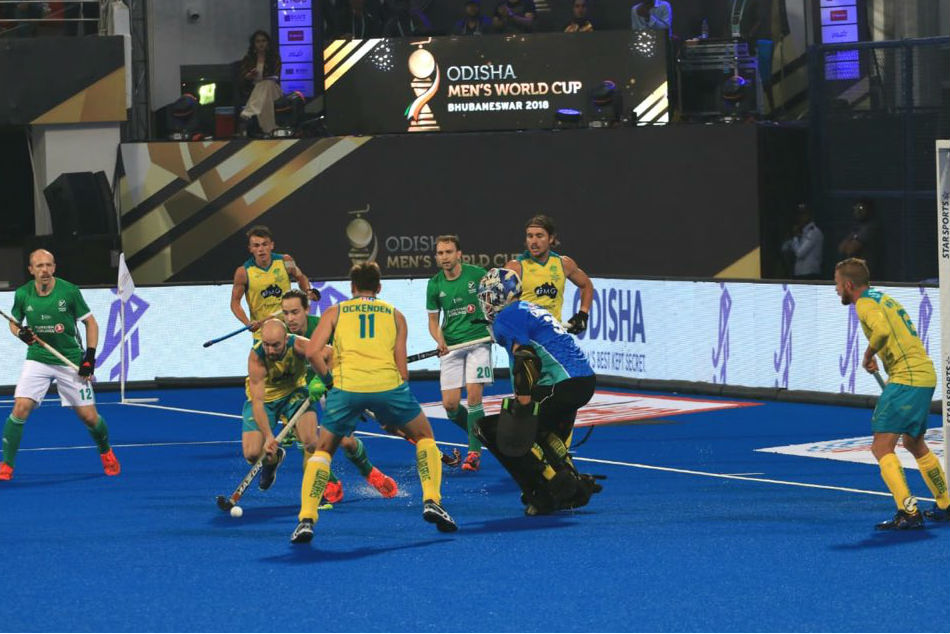 Hockey World Cup 2018: Title holders Australia struggle past Ireland 2-1