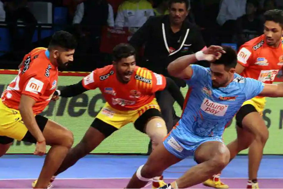 Pro Kabaddi 2018 Gujarat Beat Bengal Warriors 35