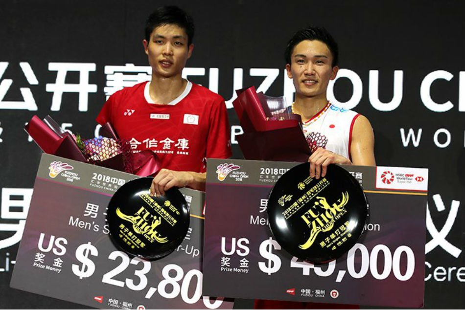 Red-hot number one Kento Momota wins badminton's China Open