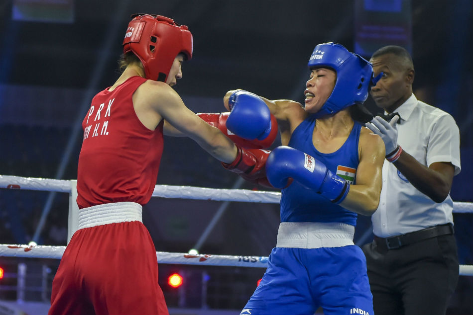 Mary kom history 6th time world champion 48kg woman boxing gold medal hanna okhota