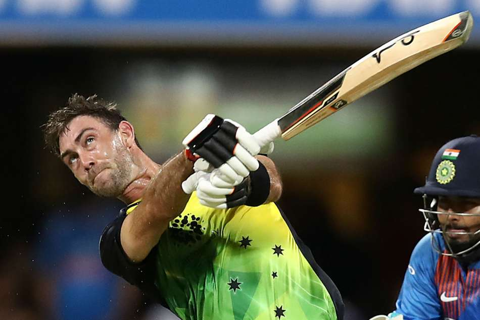 WATCH: Maxwell hits Spidercam with sliced shot in Australia-India T20