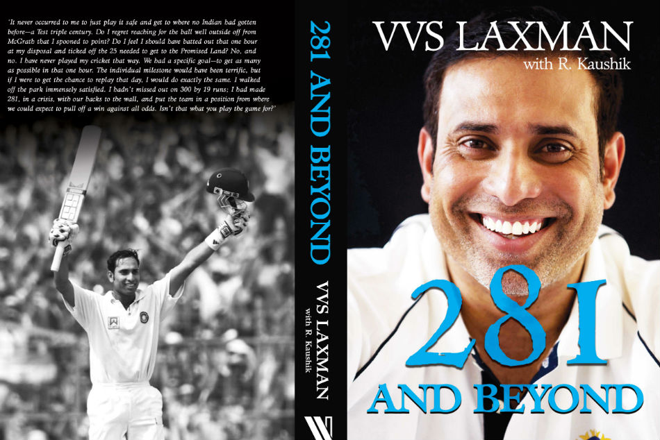 Laxman unveils the cover of his autobiography, 281 and Beyond