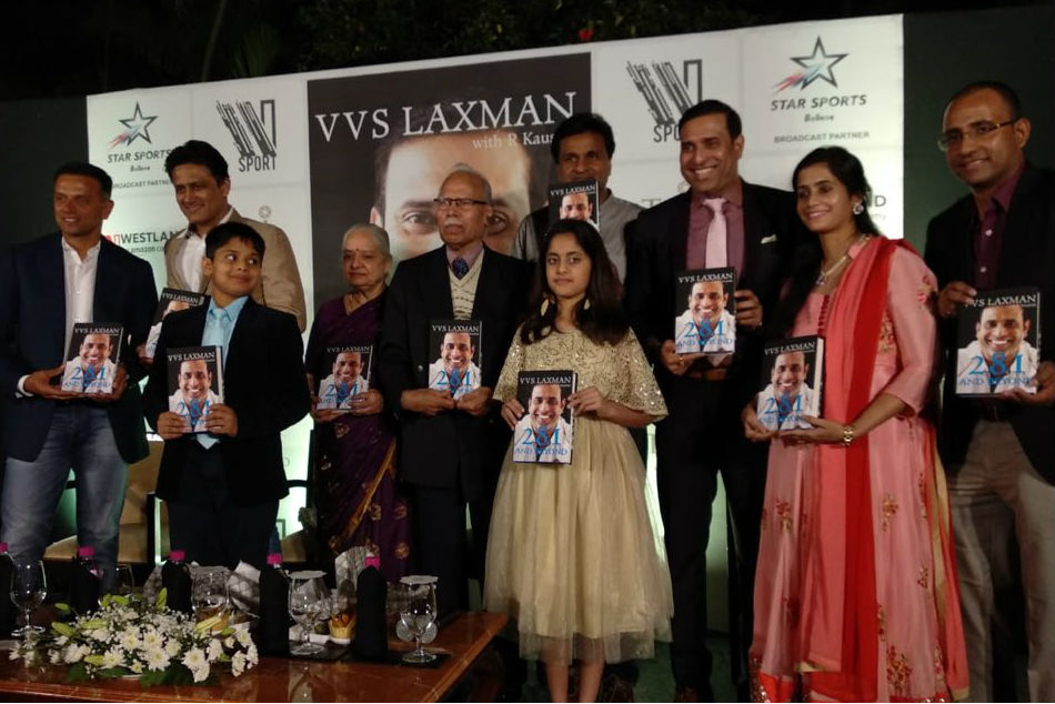 VVS Laxmans 281 And Beyond book release in Bengaluru