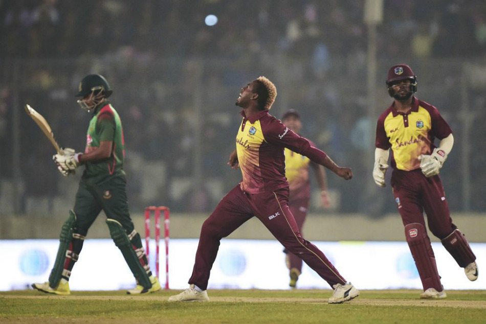 Bangladesh Vs West Indies Third T20 No Ball Review Controversy Carlos Brathwaite Tanvir Ahmed