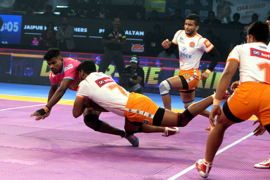 PKL 2018: Jaipur Pink Panthers beat Puneri Paltan