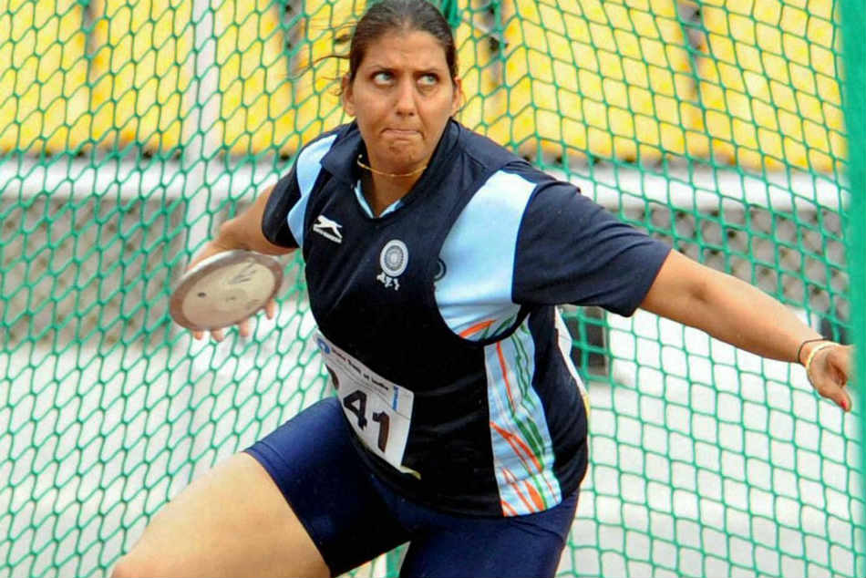 commonwealth games 2010 gold medalist discus throw krishna poonia sadalpur congress