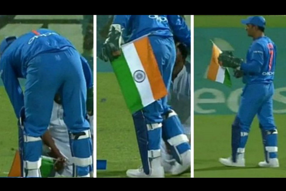 Ms Dhoni Wins Heart With His Love For Indian Flag As Delirious Fan Trespasses On The Field Watch