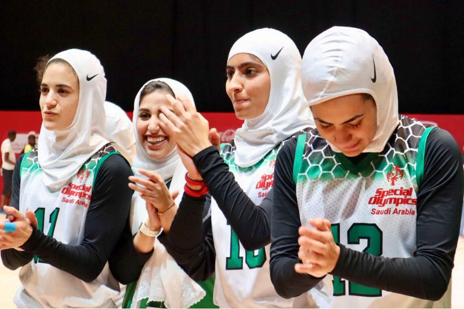 first time, Saudi Women's basketball team win gold in Special Olympics