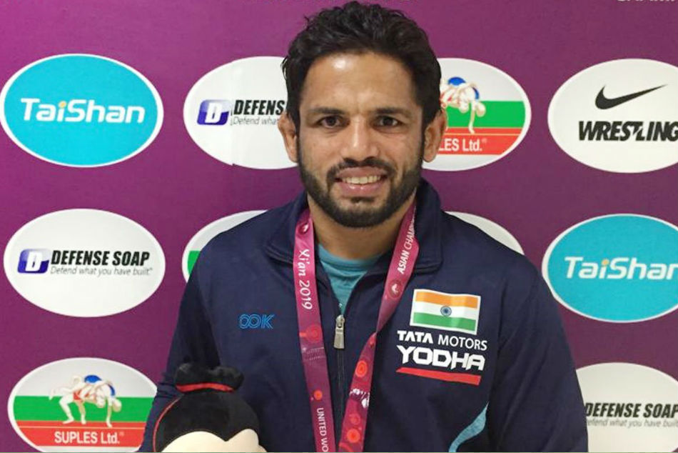 Amit Dhankar Settles For Silver Rahul Aware For Bronze In Asian Wrestling Championships