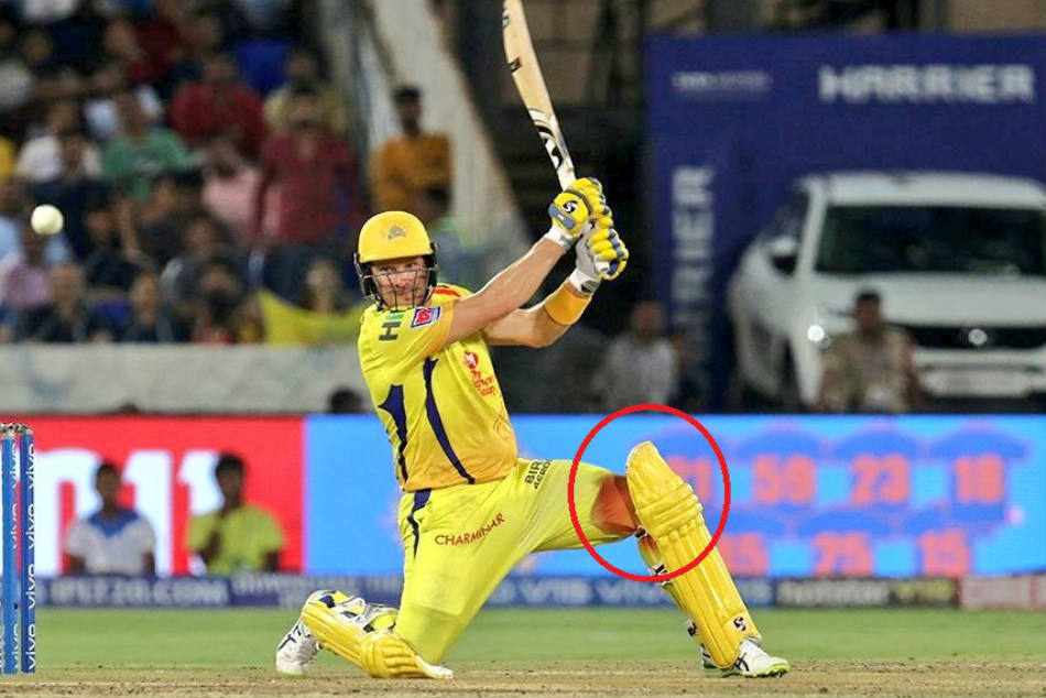 Shane Watson Batted With Bleeding Knee In Ipl Final
