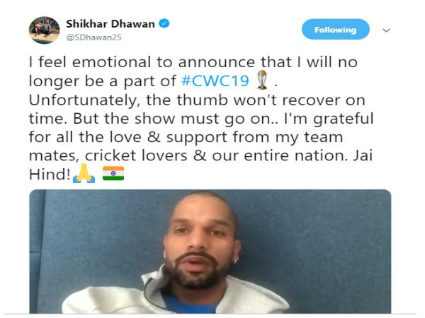 Time to go back and recover, says Dhawan