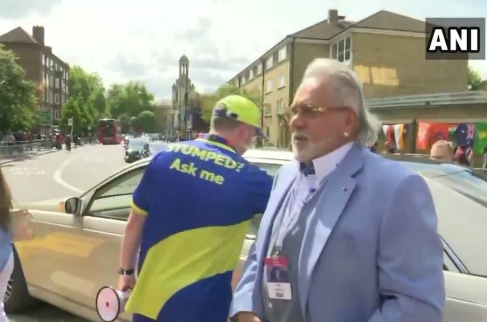 Vijay Mallya spotted at The Oval to watch CWC 19 India vs Australia match