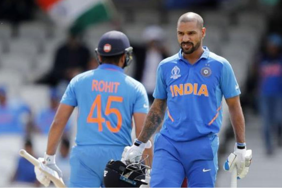 India Vs West Indies Shikhar Dhawan United With Opening Partner Rohit Sharma